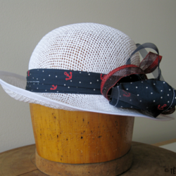 Chapeau de paille blanc - Têtu-Têtu