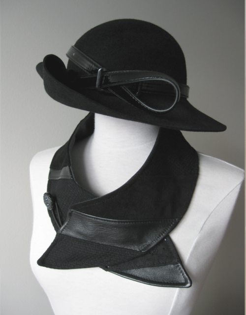 confection sur mesure - chapeau & col