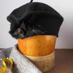 Béret de laine noir - Têtu-Têtu