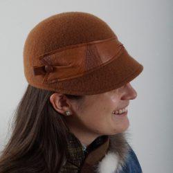 Chapeau de feutre brun noisette - Têtu-Têtu