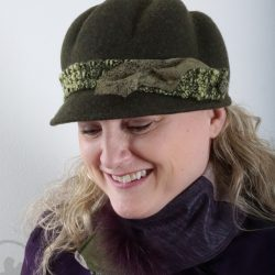 Chapeau de feutre vert olive - Têtu-Têtu