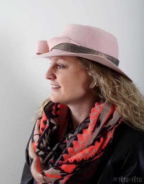 Chapeau de feutre rosé - Têtu-Têtu
