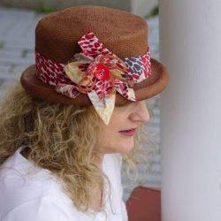 Chapeau de paille papier brun - Têtu-Têtu