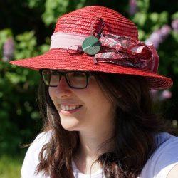 Chapeau de paille rouge - Têtu-Têtu