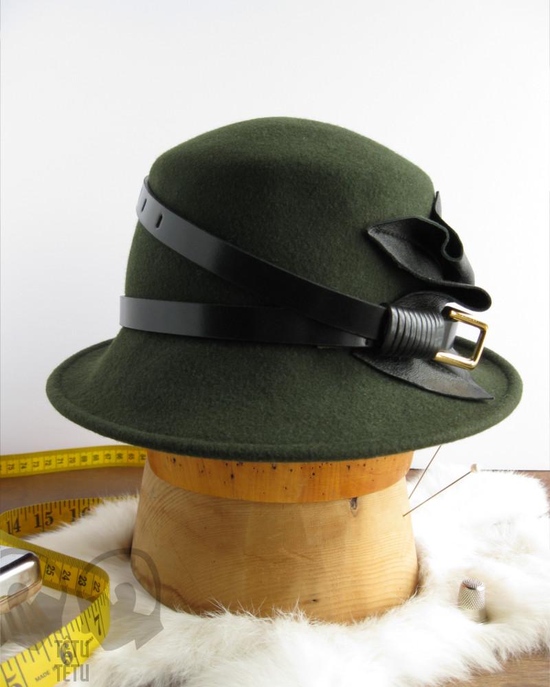 Chapeau de feutre kaki - Têtu-Têtu