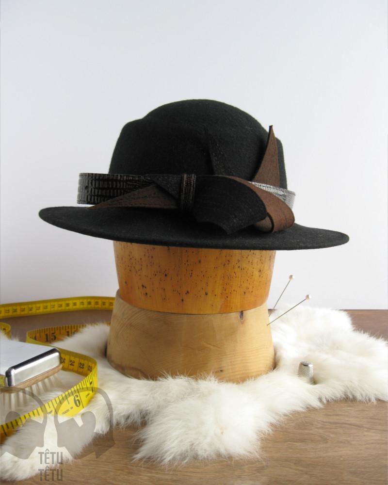 Chapeau de feutre noir - Têtu-Têtu