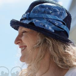 Chapeau de paille marine - Têtu-Têtu